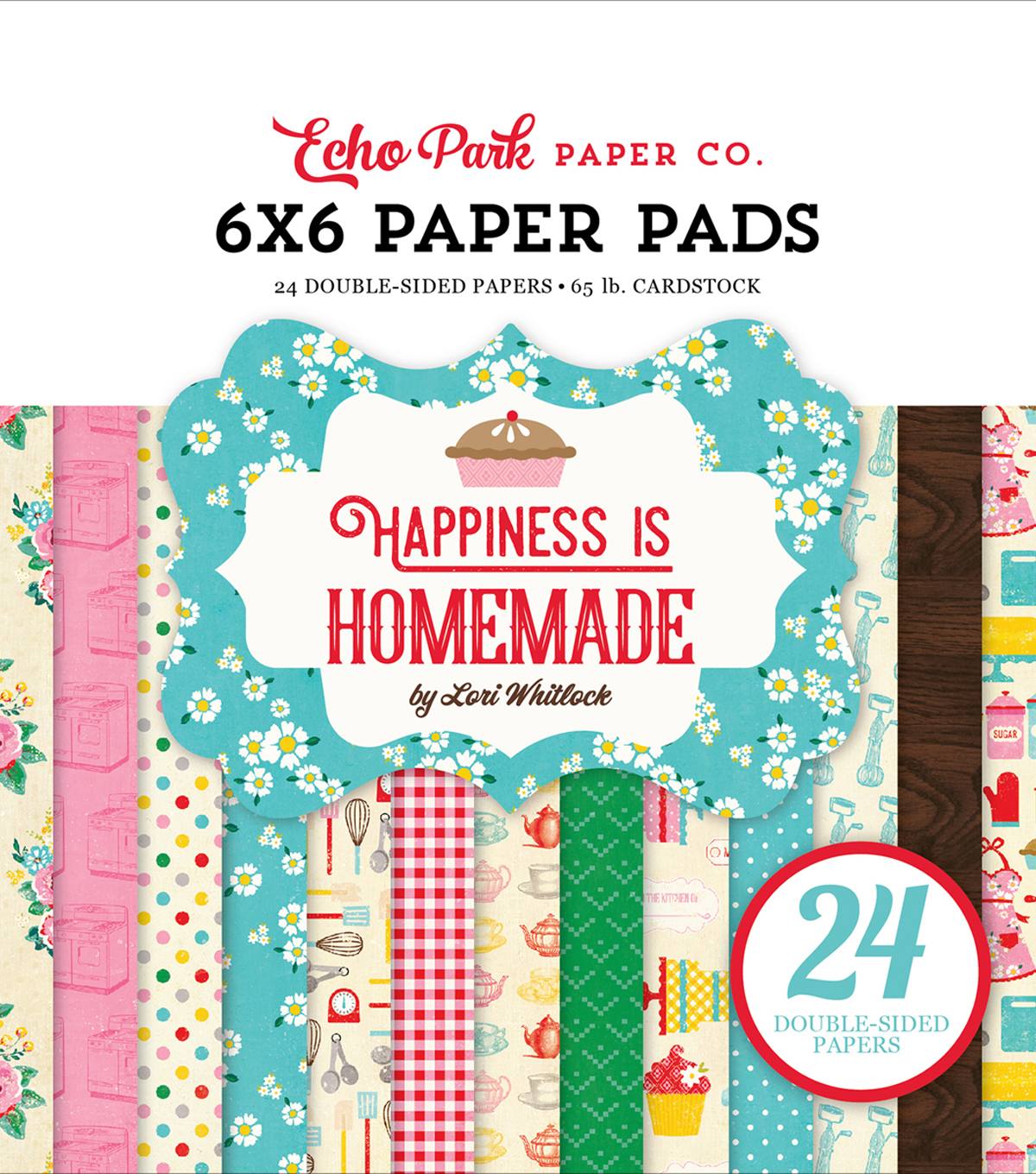 "Double-Sided Paper Pad 6""X6""-Happiness Is Homemade"