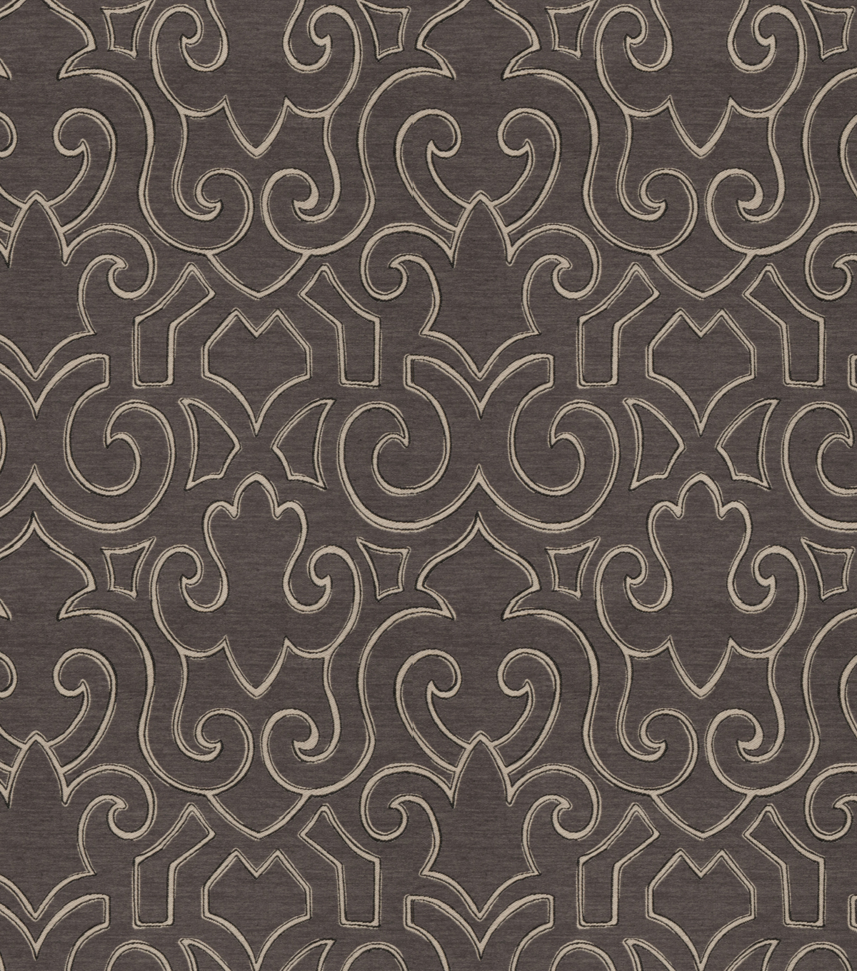 Eaton Square Upholstery Fabric 55\u0022-Guild/Charcoal