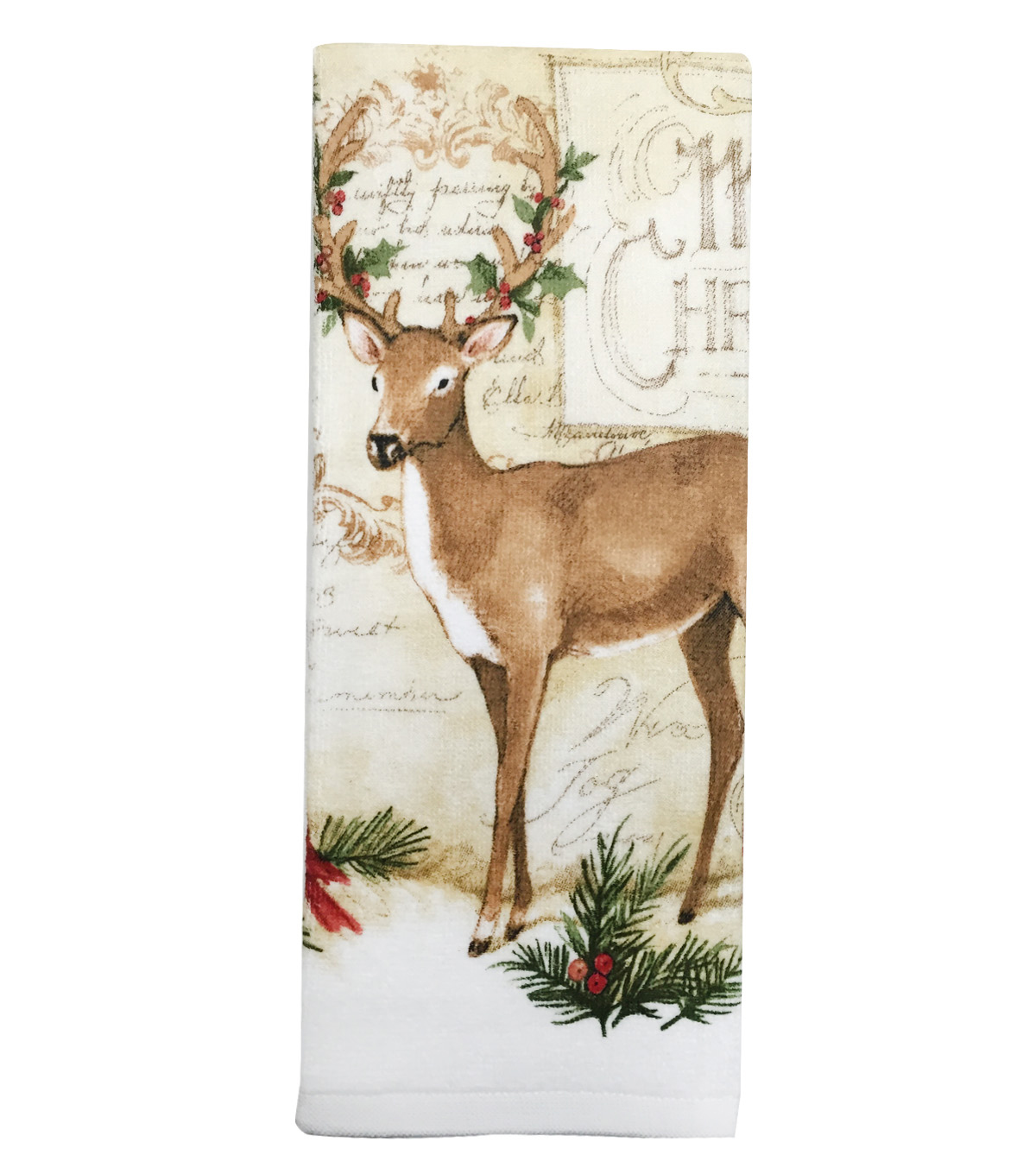 Maker\u0027s Holiday Terry Towel-Deer