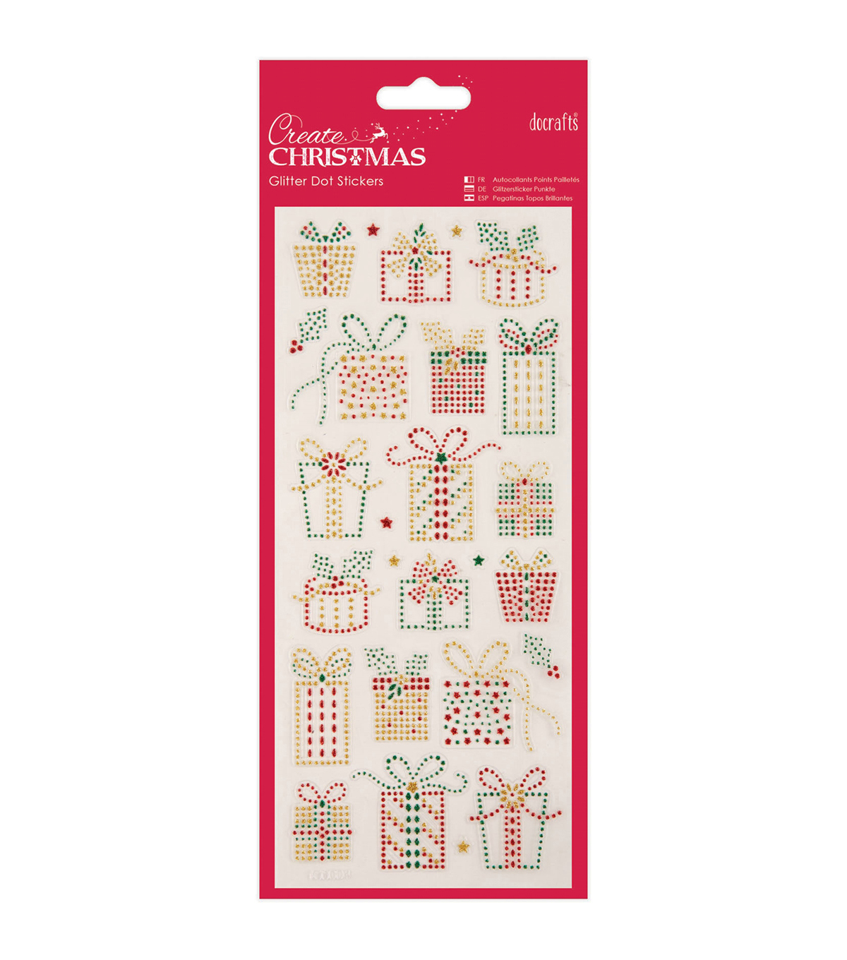 Papermania Create Christmas Dot Stickers-Christmas Presents
