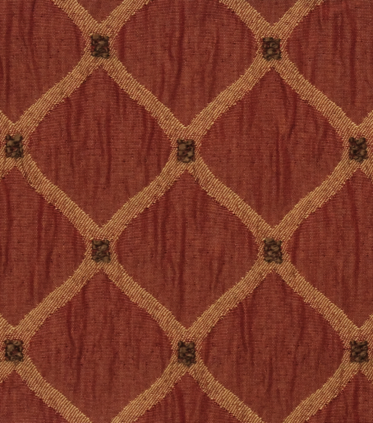 "Home Decor 8""x8"" Fabric Swatch-Jaclyn Smith Newark-Crimson"