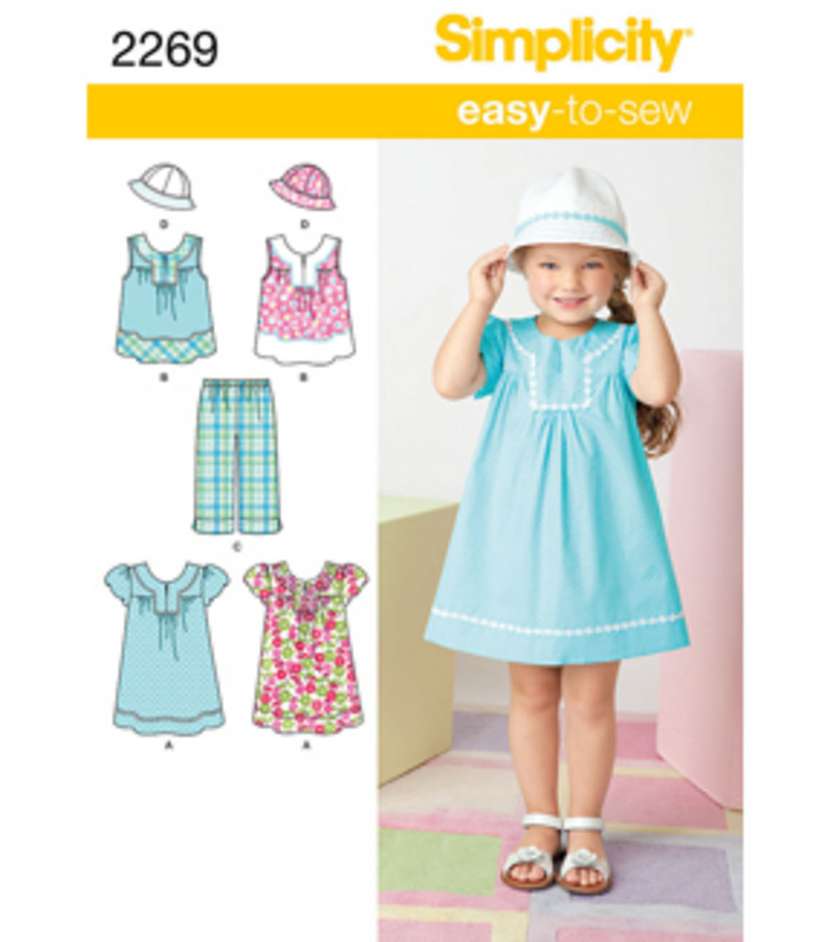 Simplicity Pattern 2269A 3-4-5-6-7--Simplicity Child