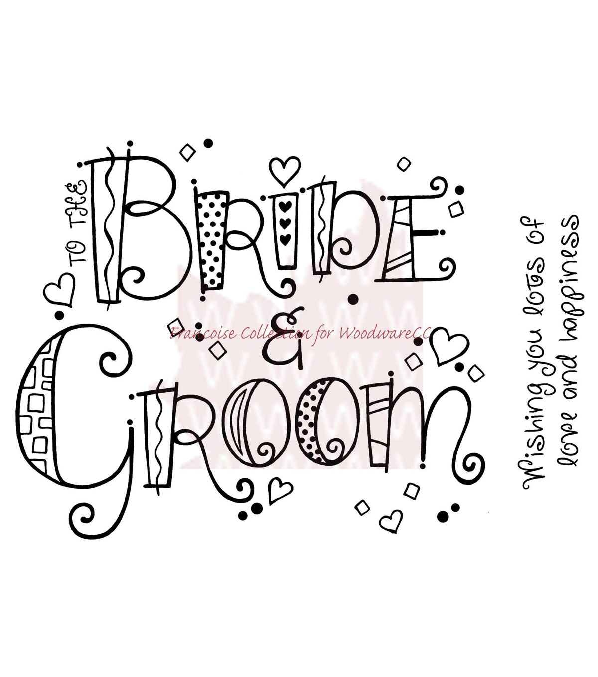 Woodware Clear stamps Curly Bride & Groom