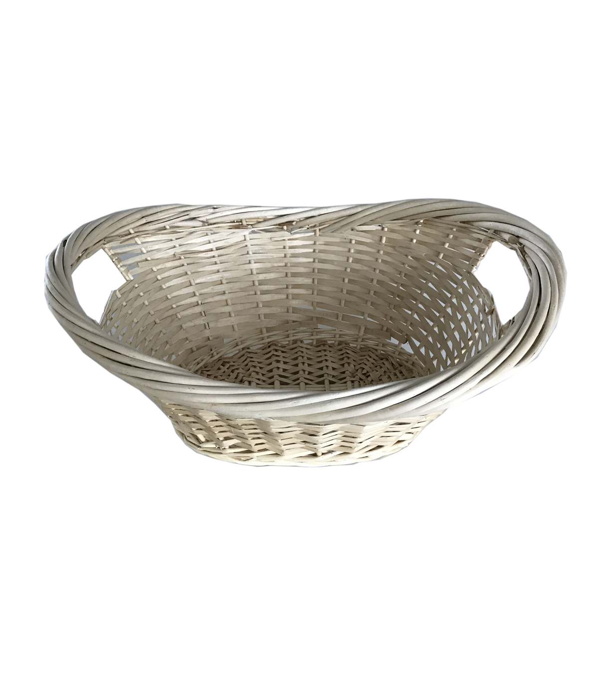 Organizing Essentials™ Heavy Rim Natural Willow Laundry Basket