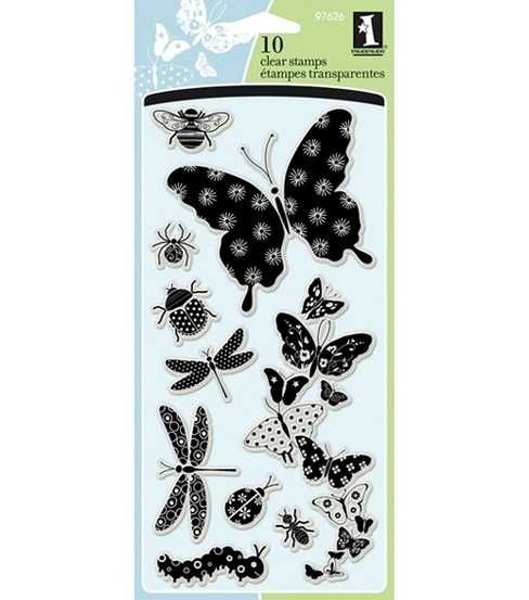 Inkadinkado Clear Stamps-Patterned Bugs