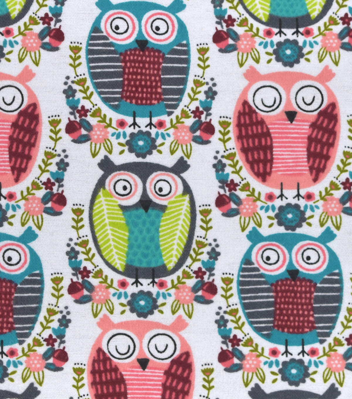 Snuggle Flannel Fabric 42\u0022-Artsy Owls