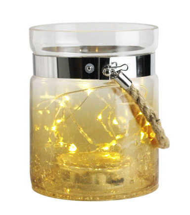 Glass LED Lantern 6\u0027\u0027-Amber