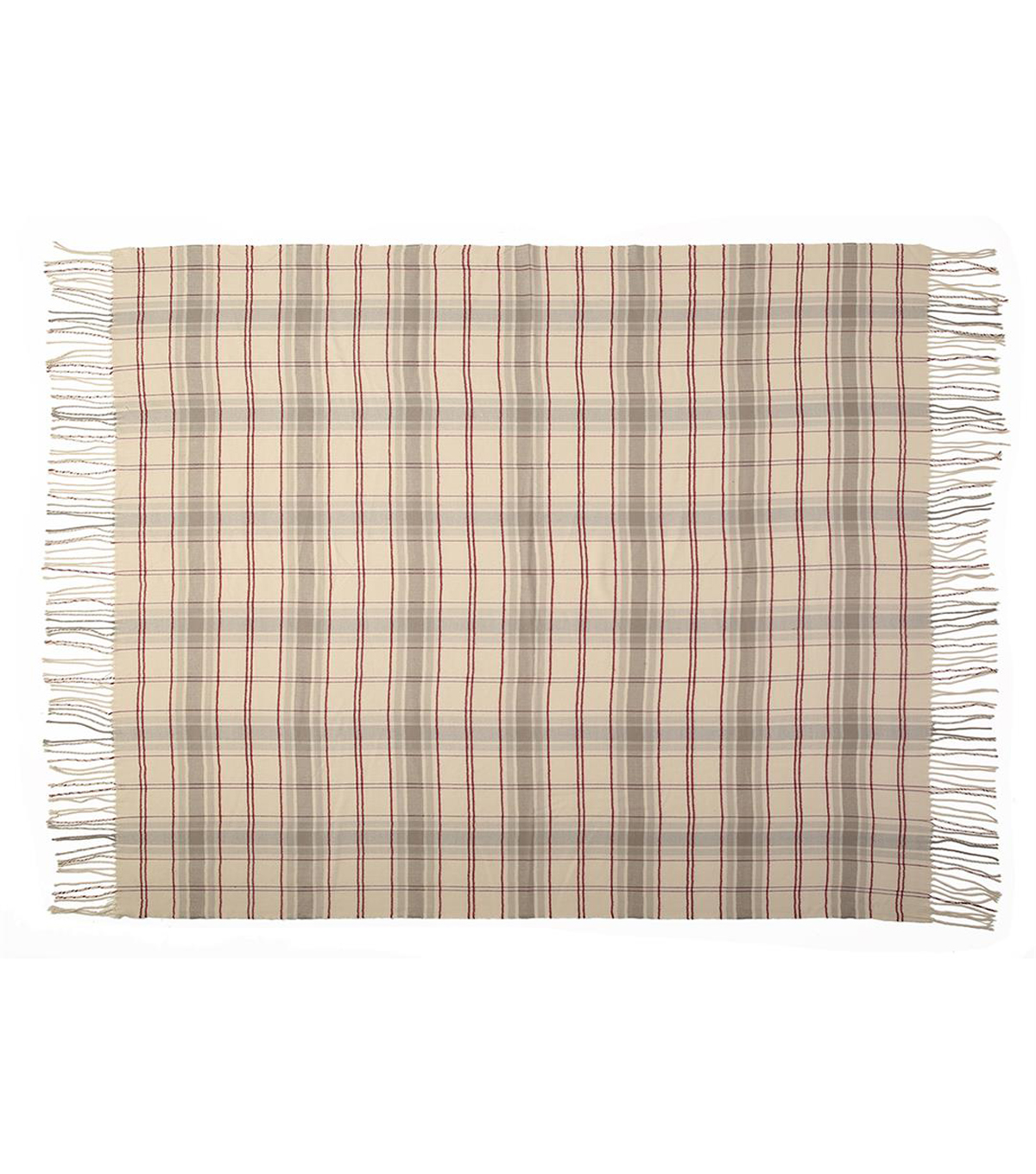 Fall Into Color 50\u0027\u0027x60\u0027\u0027 Throw-Neutral Plaid