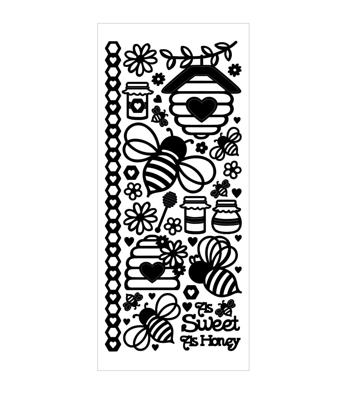 Hot Off The Press Dazzles Honey Bees Stickers