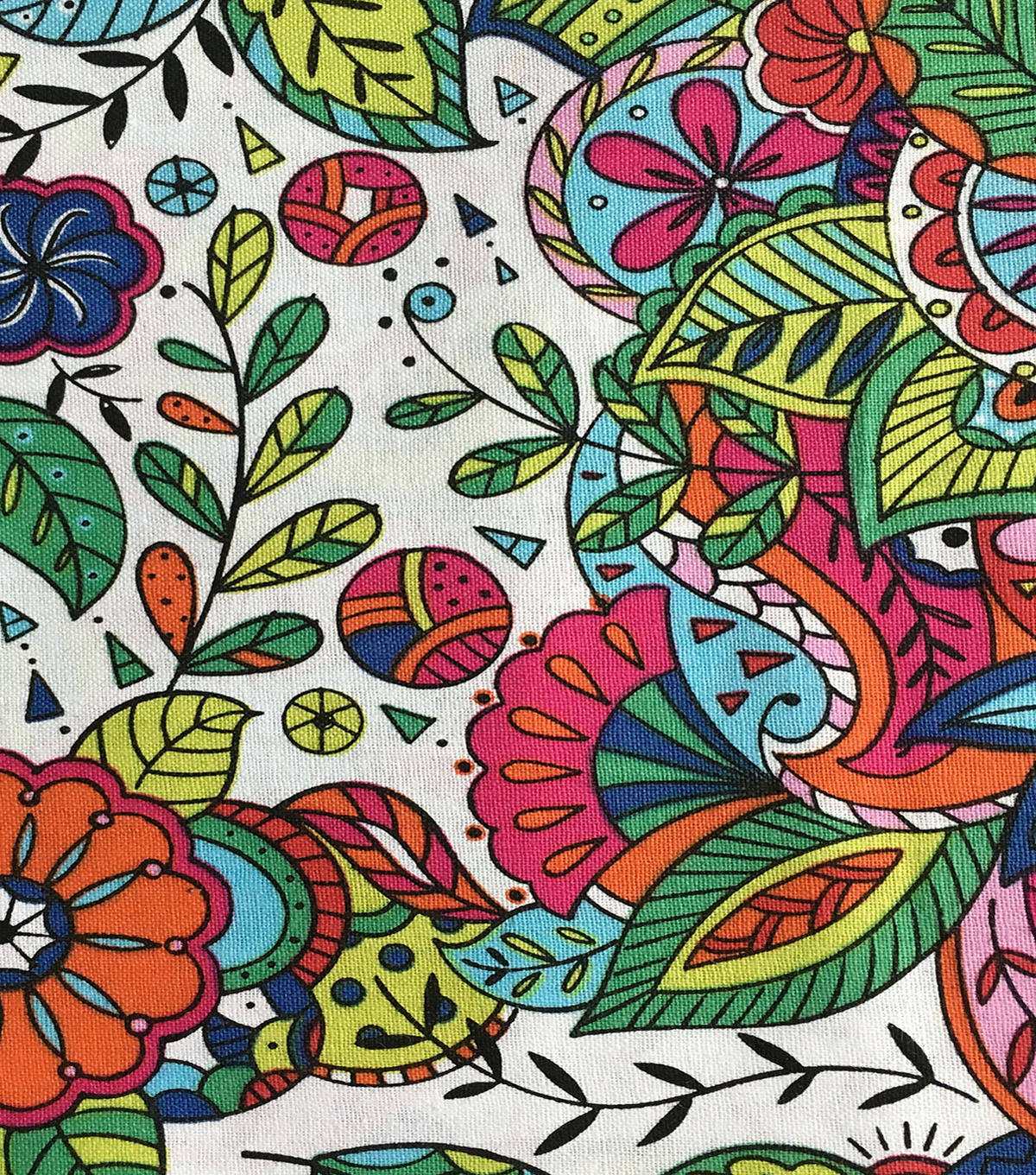 Keepsake Calico™ Cotton Fabric-Coloring Book Floral