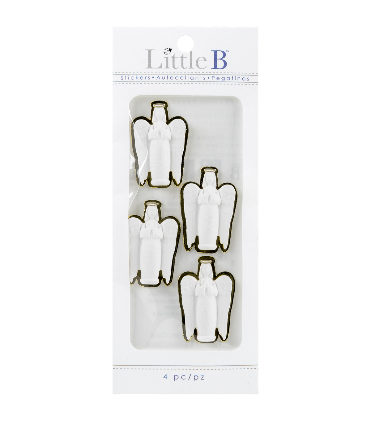 Little B Mini Stickers-White Angels