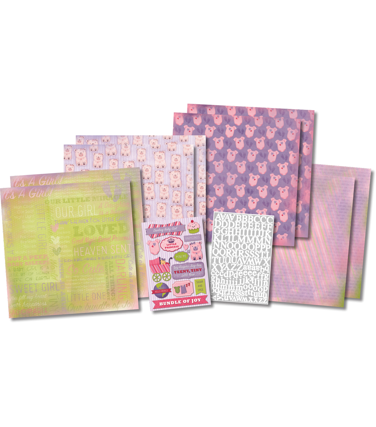 Karen Foster Its A Girl - Scrapbook Kit 12X12