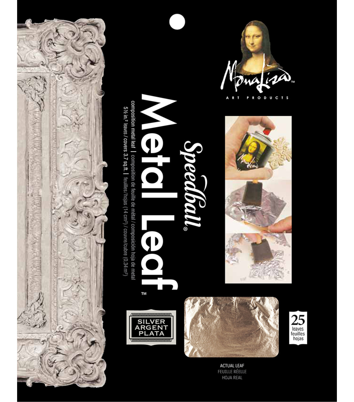 Silver Leafing Sheets-25/Pkg Silver