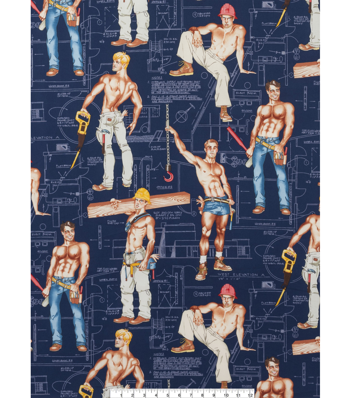Novelty Cotton Fabric 45\u0022-Heavy Equipment