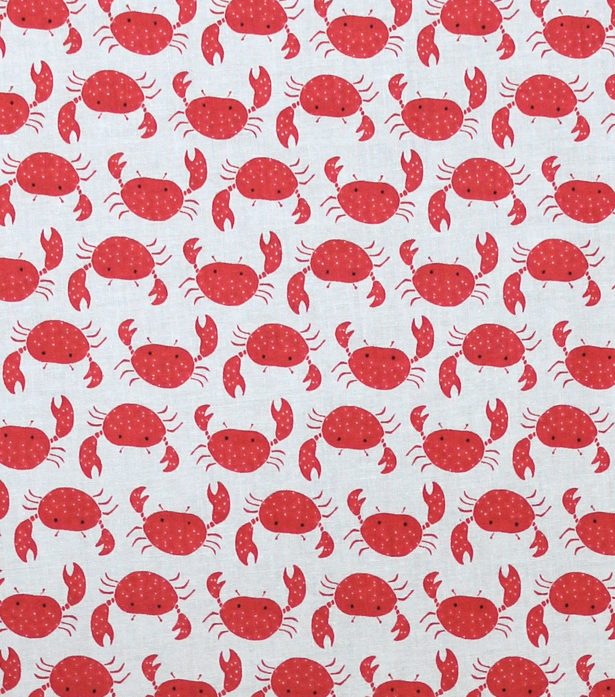 Novelty Cotton Fabric 44\u0022-Crabs On Cream