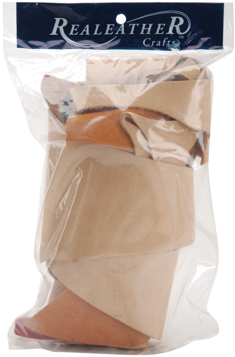 Suede Trim Scrap Bag 8oz-Assorted