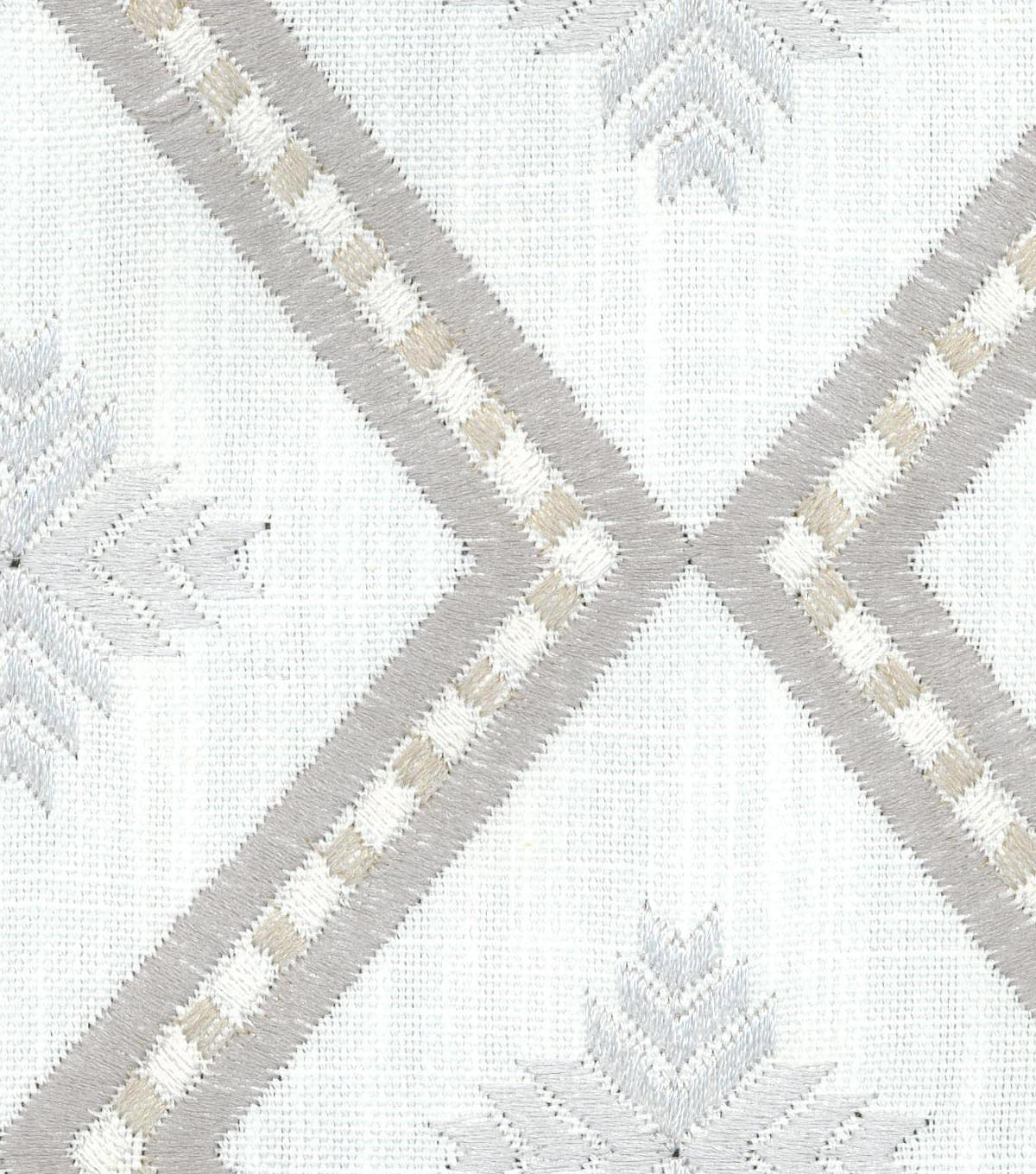Genevieve Gorder Embroidered Upholstery Fabric 54\u0027\u0027-Steam Kyss
