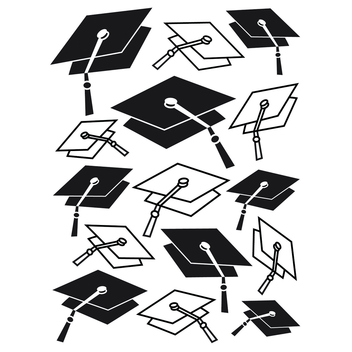 Darice Embossing Folder Graduation Hat Background