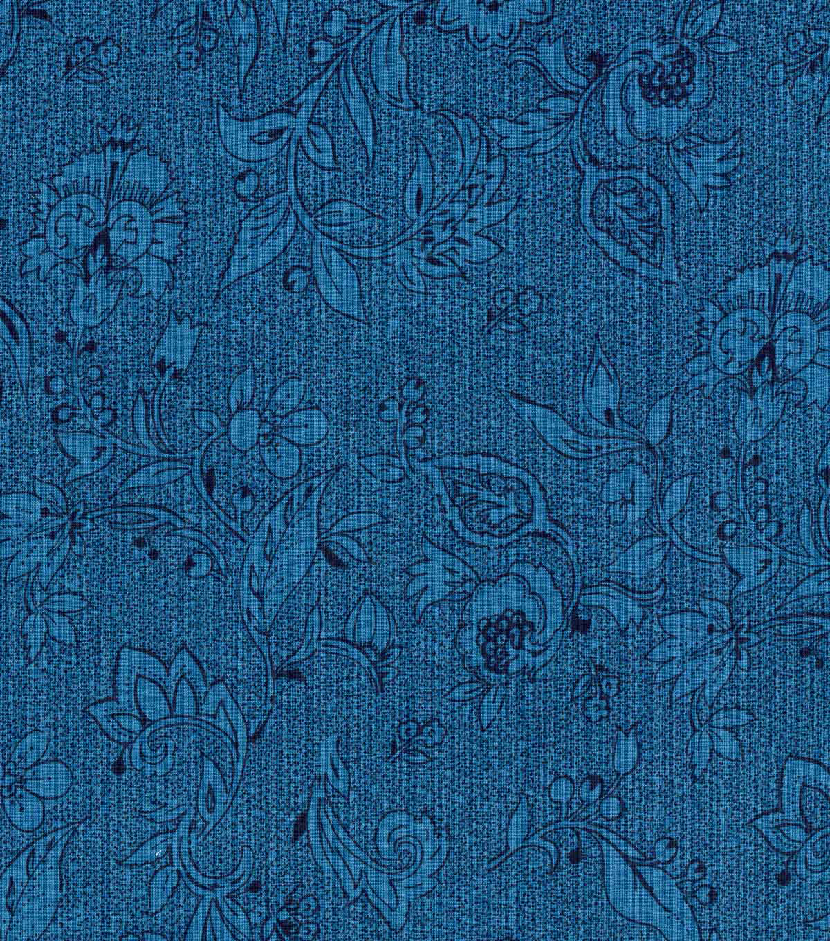 Keepsake Calico™ Cotton Fabric-Anchors Away Navy Floral