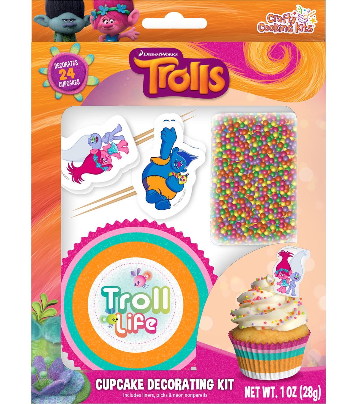 Dreamworks Trolls Cupcake Decorating Kit