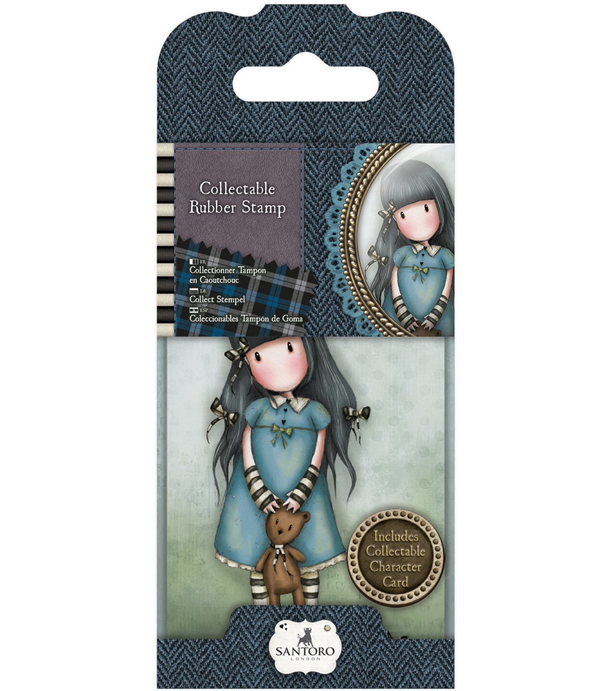 Santoro Rubber Stamps-No. 4, Forget Me Not