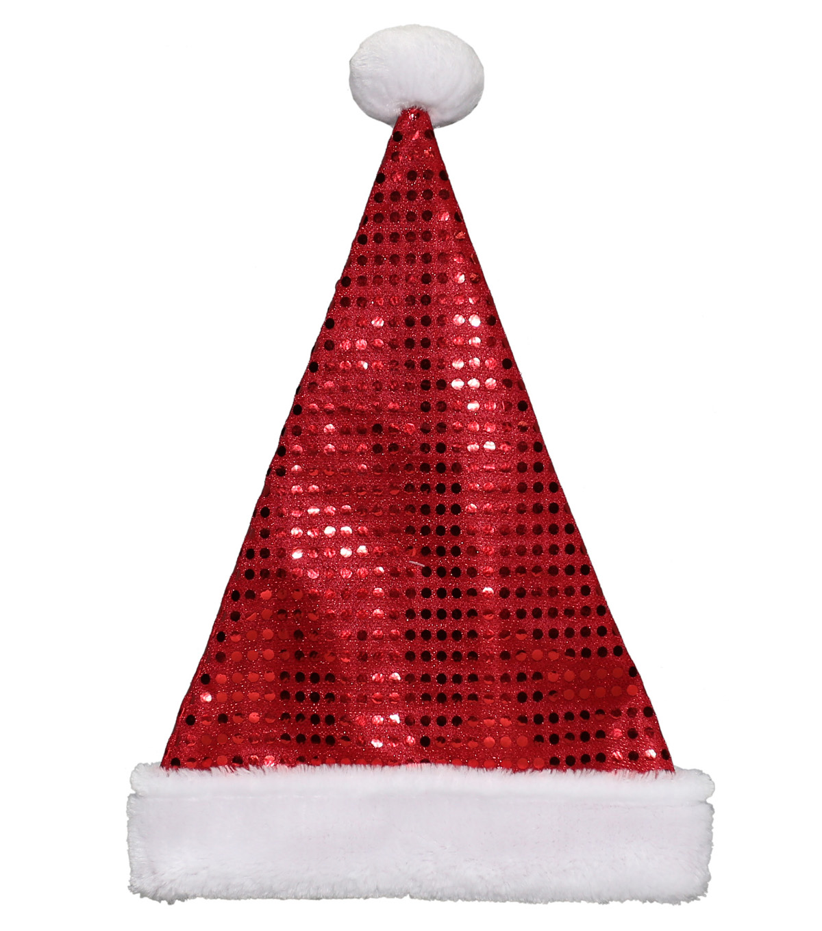 Maker\u0027s Holiday Sequin Santa Hat-Red & White