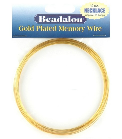 Beadalon Memory Wire Necklace Coil-.50 Oz/Gold Plated