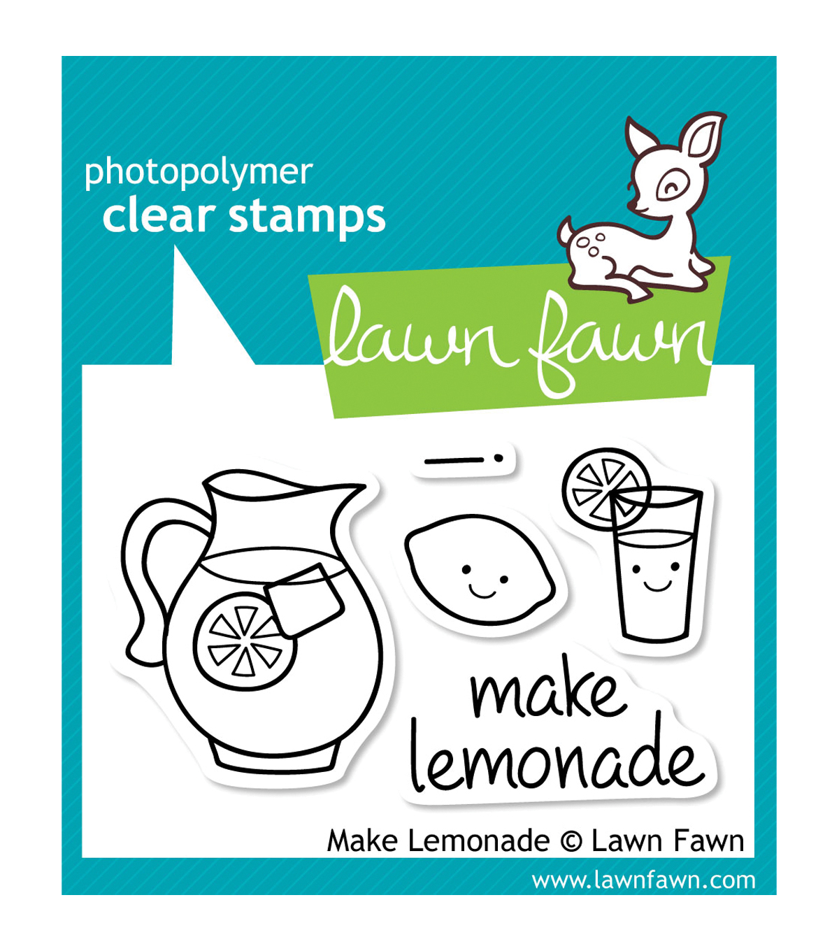 "Lawn Fawn Clear Stamps 3""X2""-Make Lemonade"