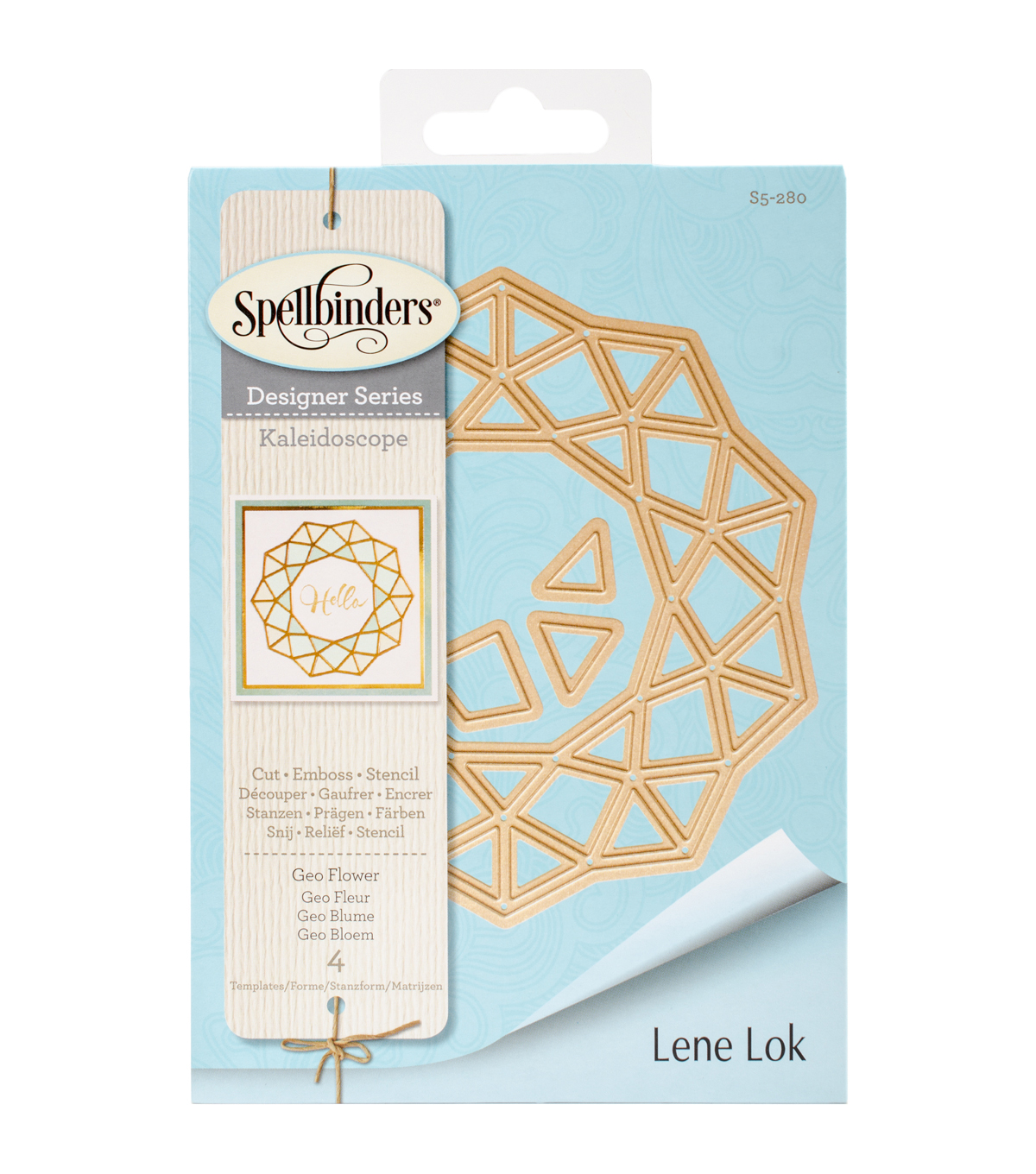 Spellbinders® Shapeabilities® 4 Pack Etched Dies-Geo Flower