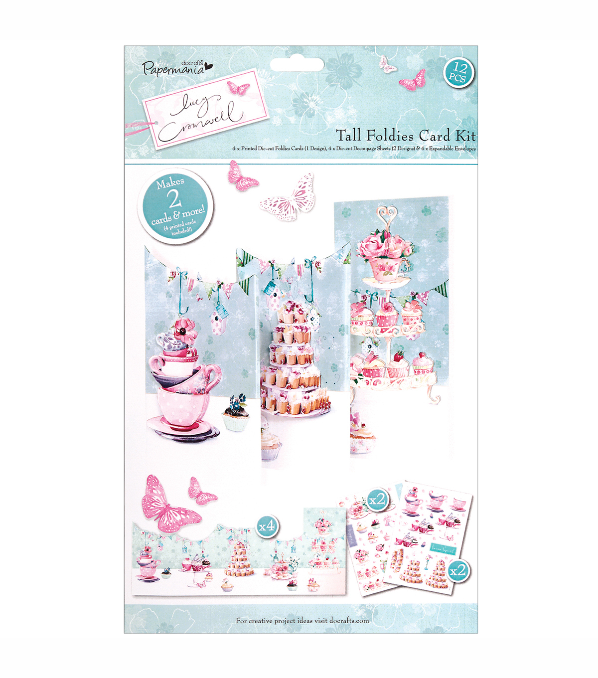 Docrafts Papermania Lucy Cromwell Tall Foldies Card Kit