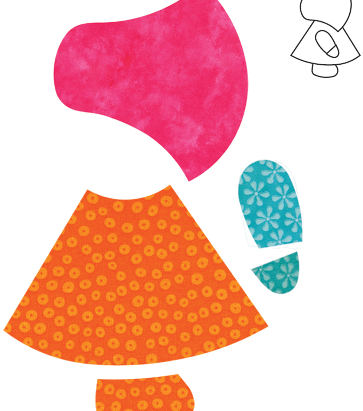 Go! Fabric Cutting Dies-Sunbonnet Sue
