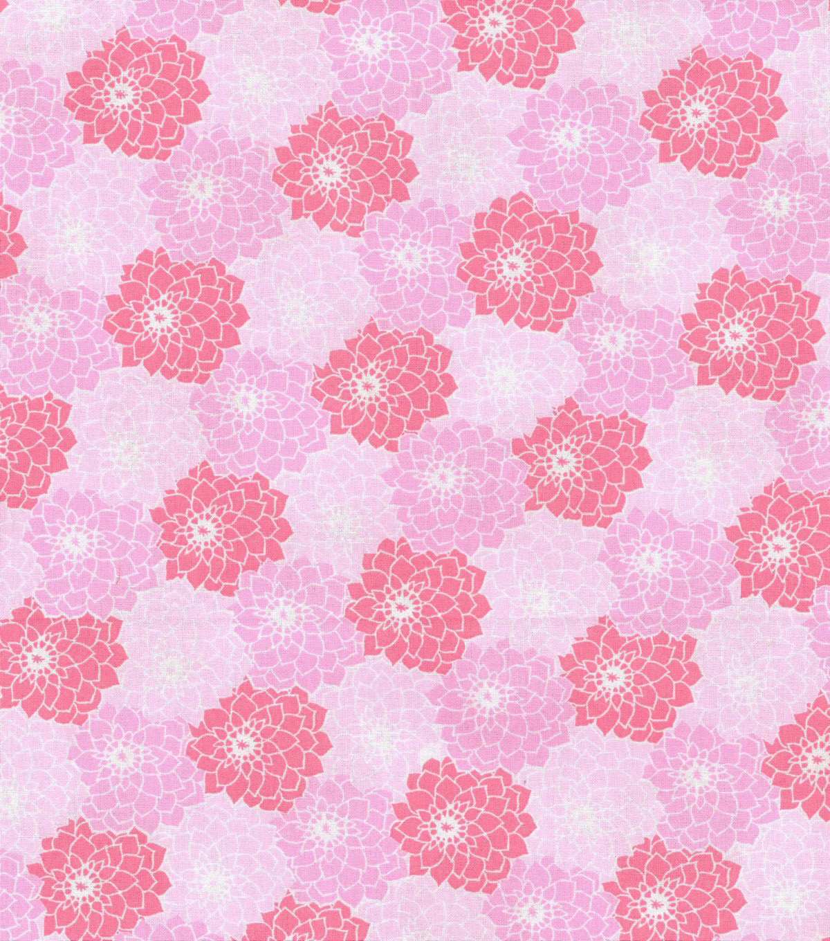 Keepsake Calico Cotton Fabric 43\u0022-Packed Tonal Floral Pink