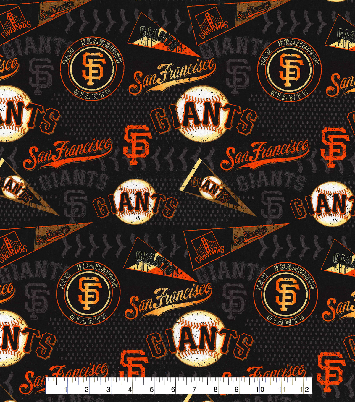 San Francisco Giants Cotton Fabric 58\u0022-Vintage