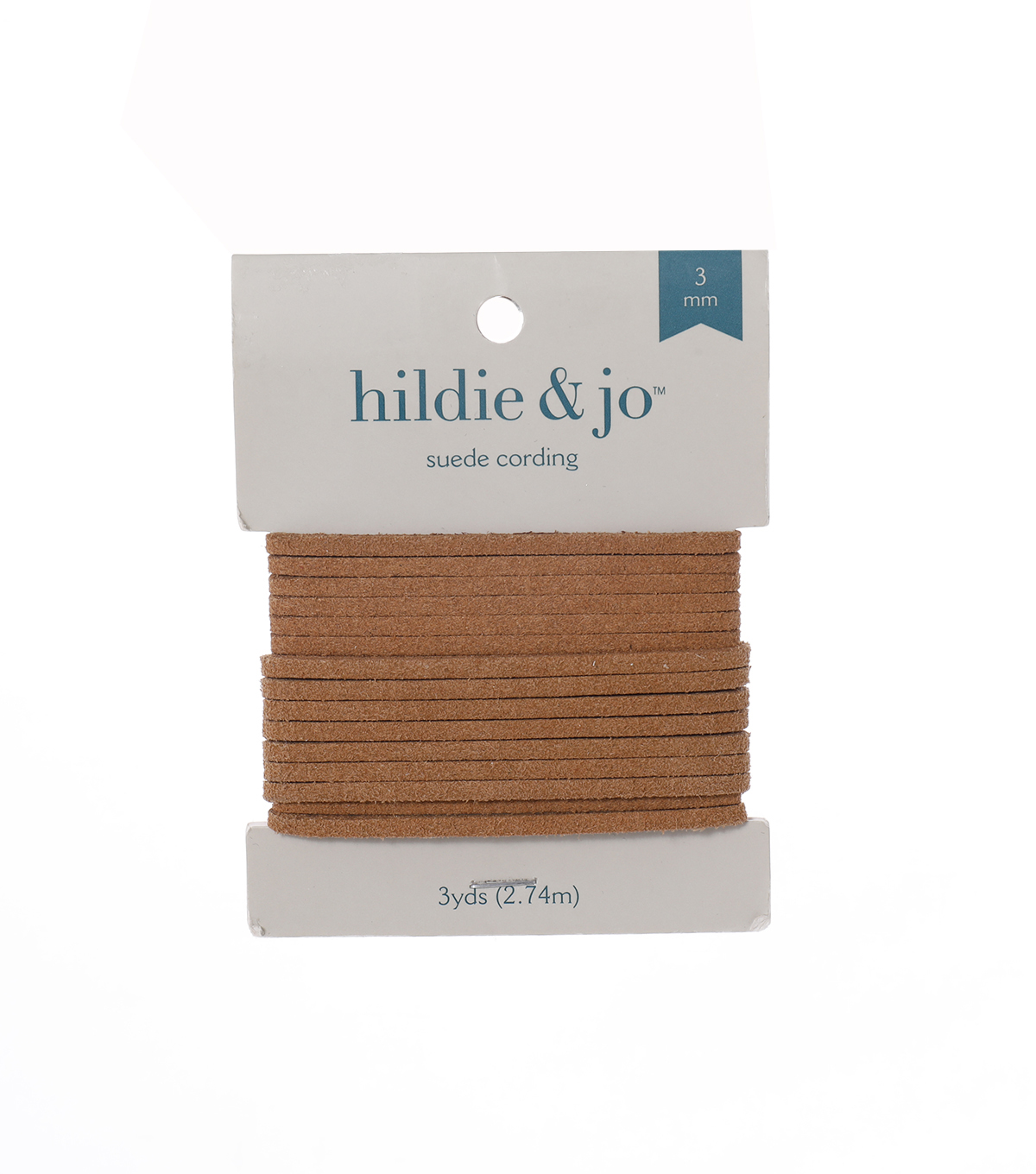 Tan Suede Cord, 3mm x 3 yards