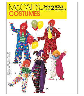 McCall\u0027s Pattern M6142 Adult & Childrens\u0027 Clown Costumes