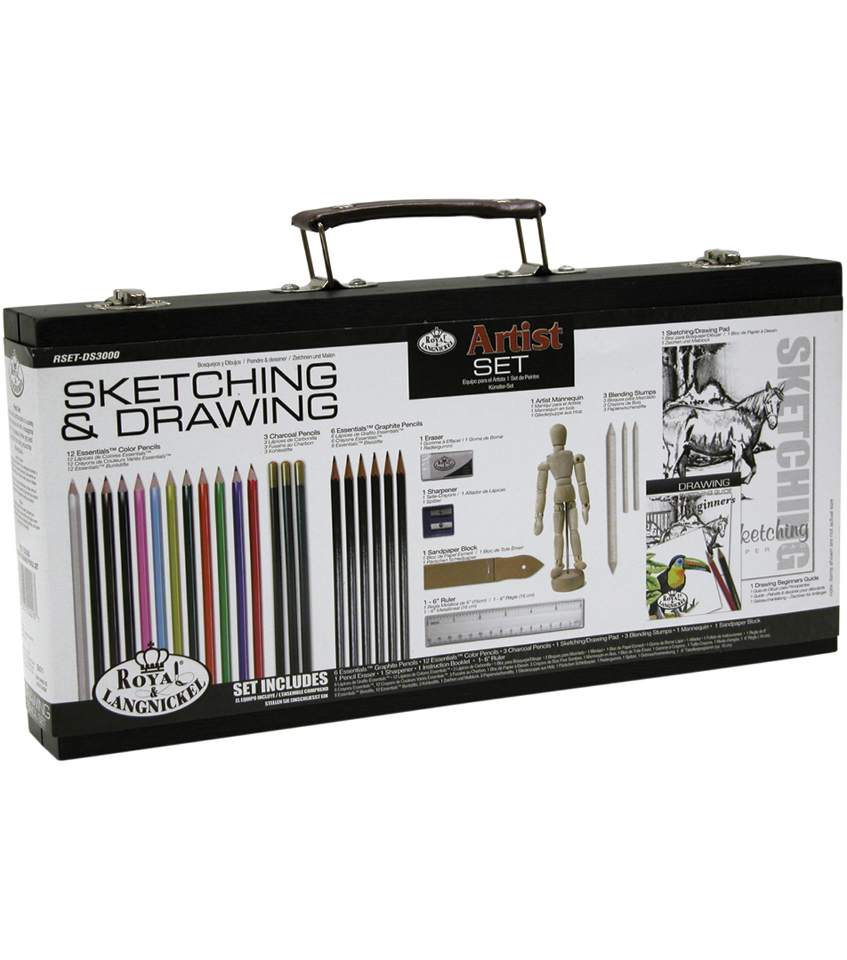 Royal Brush Beginner Drawing Wood Box Set
