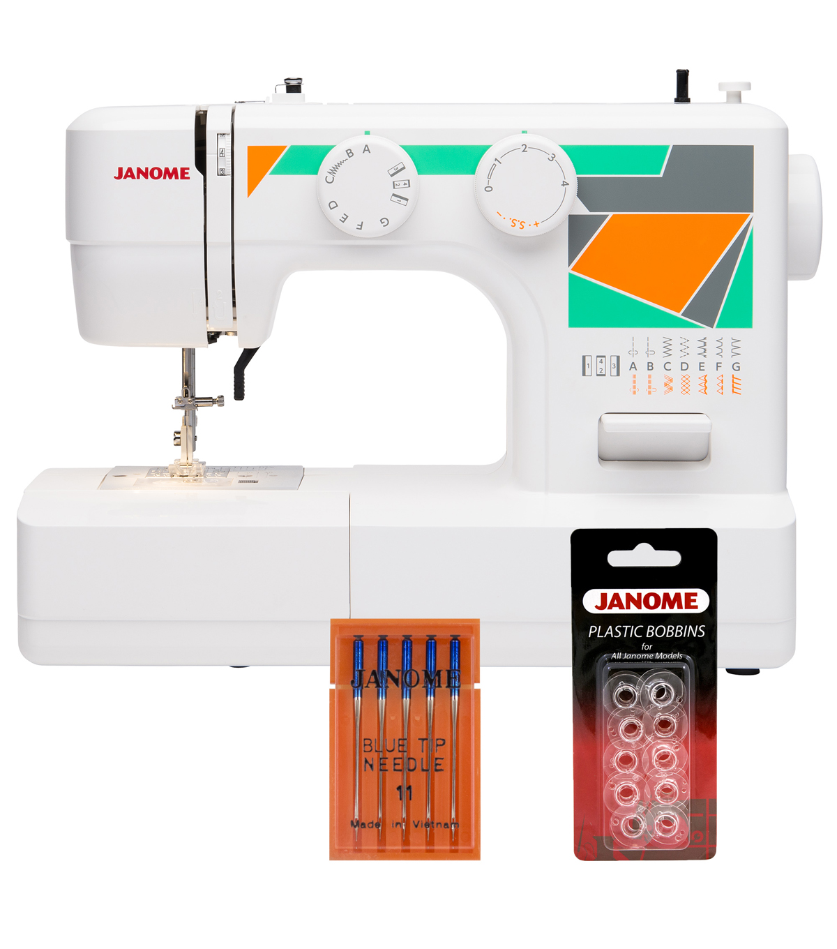 Janome MOD-15 Sewing Machine with Bonus Accessories