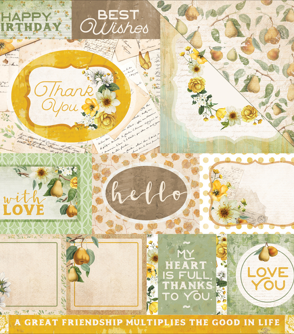 "Golden Grove Double-Sided Cardstock 12""X12""-Thoughtful"
