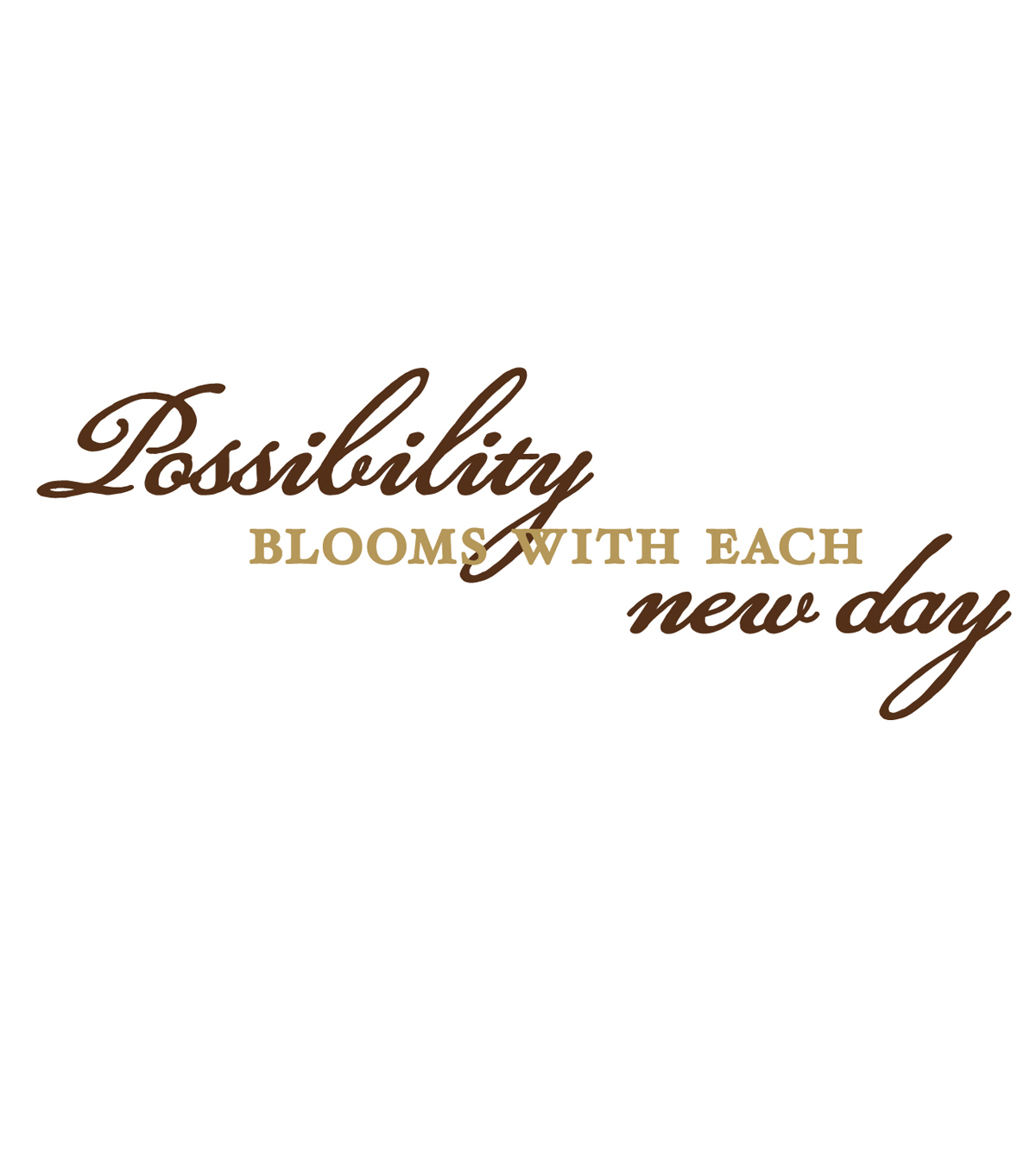 DCWV Wall Lettering-Possibilty Blooms