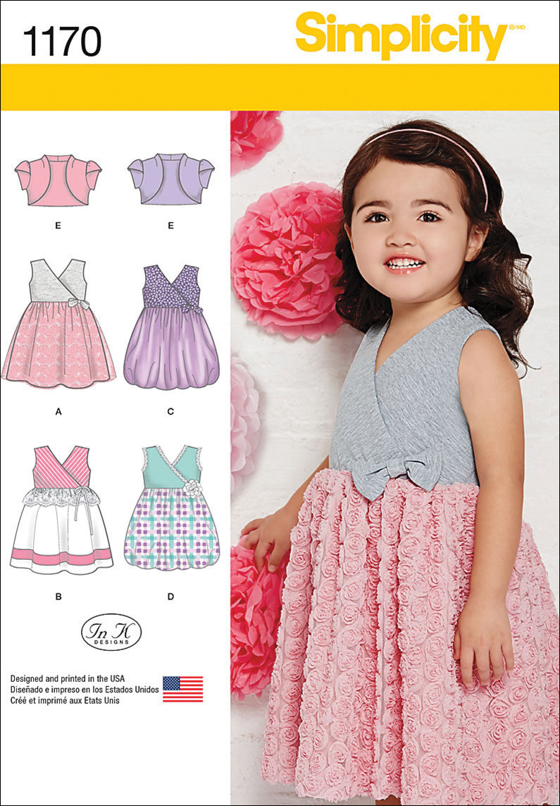 Simplicity Pattern 1170A 1/2-1-2-3--Toddlers