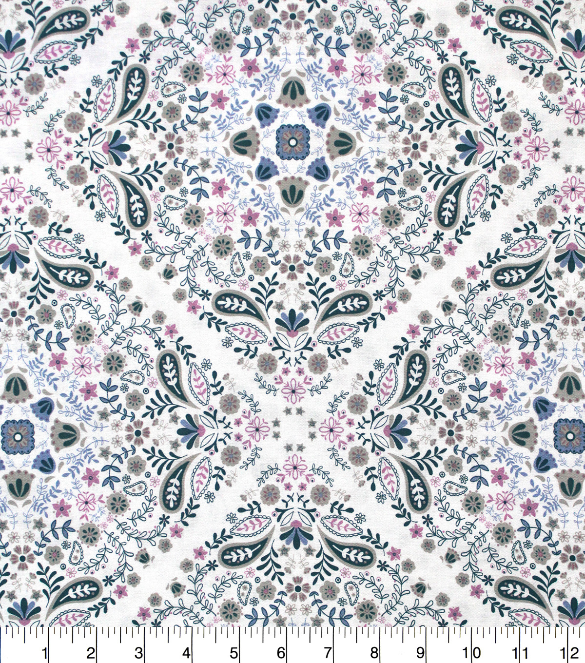Premium Quilt Elena Cotton Fabric 44\u0027\u0027-Floral Main
