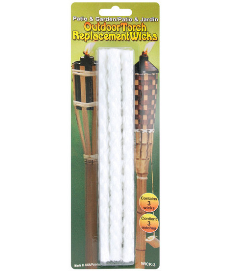 Outdoor Torch Replacement Wicks-3PK