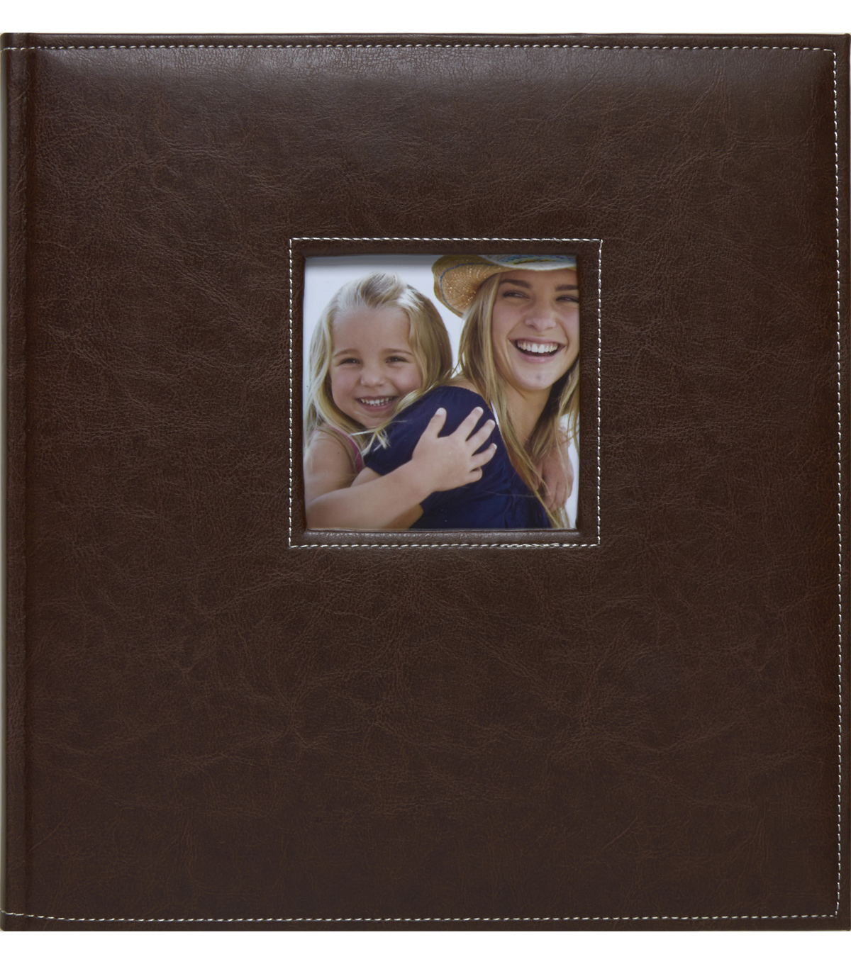 K&Company Brown Faux Leather Stitched 5 Up Photo Album