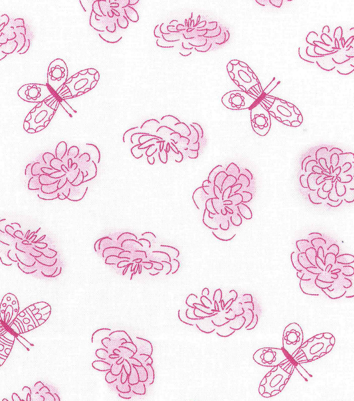 Keepsake Calico™ Cotton Fabric 43\u0027\u0027-Butterfly & Floral