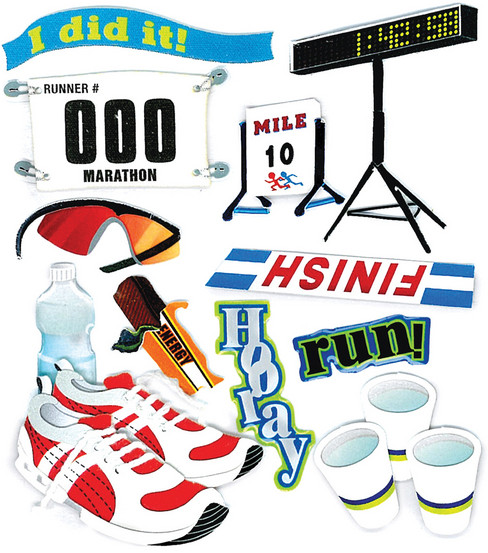 Jolee\u0027s Boutique Dimensional Stickers-Marathon Runner
