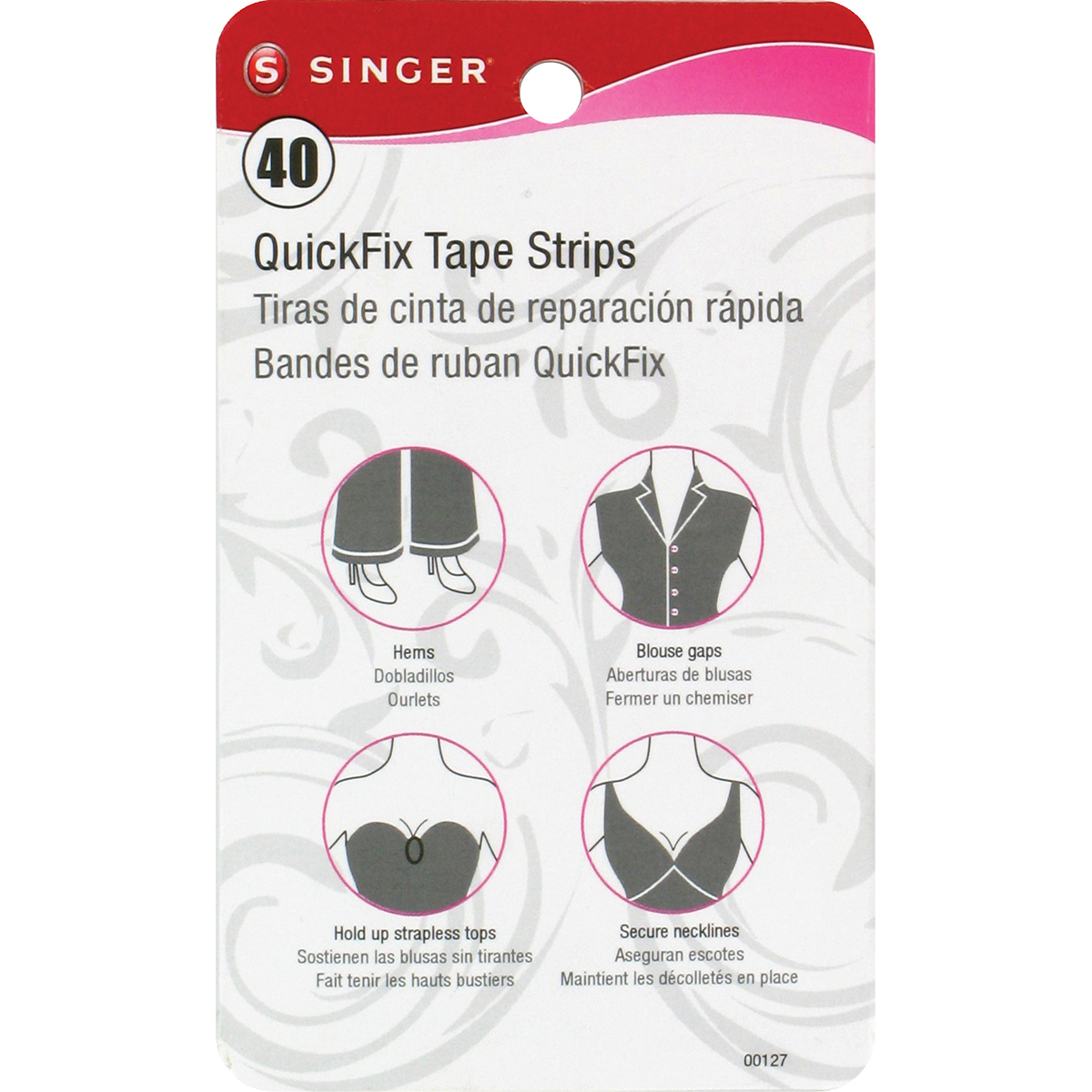 QuickFix Tape Strips 40/Pkg-.75\u0022X3.25\u0022