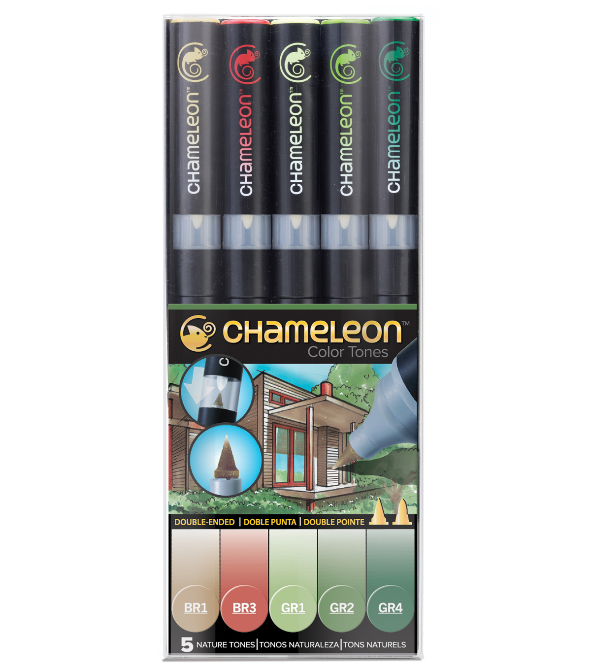 Chameleon 5 pk Color Tone Pens-Nature Tones