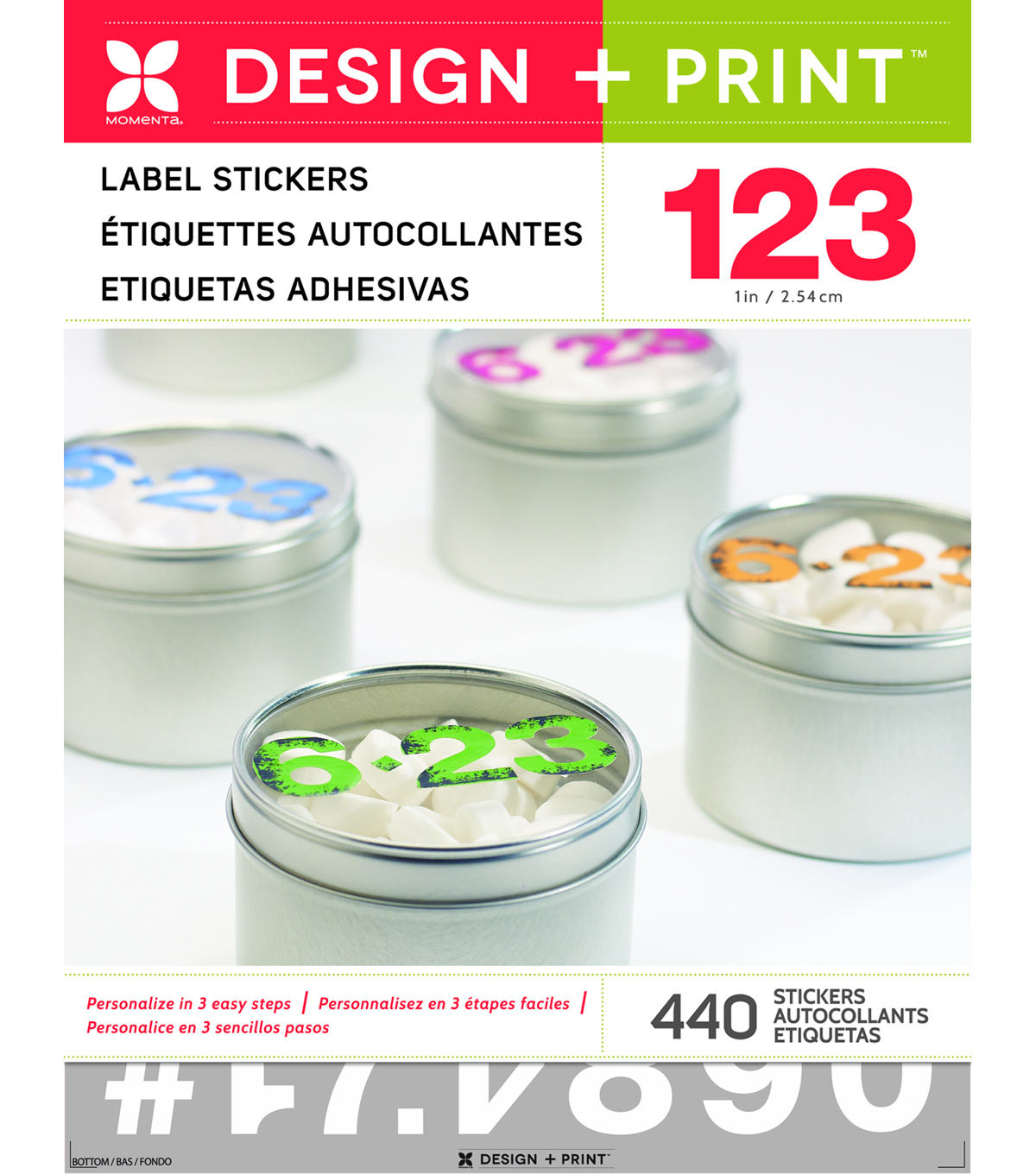 Sticker Design Print Numbers