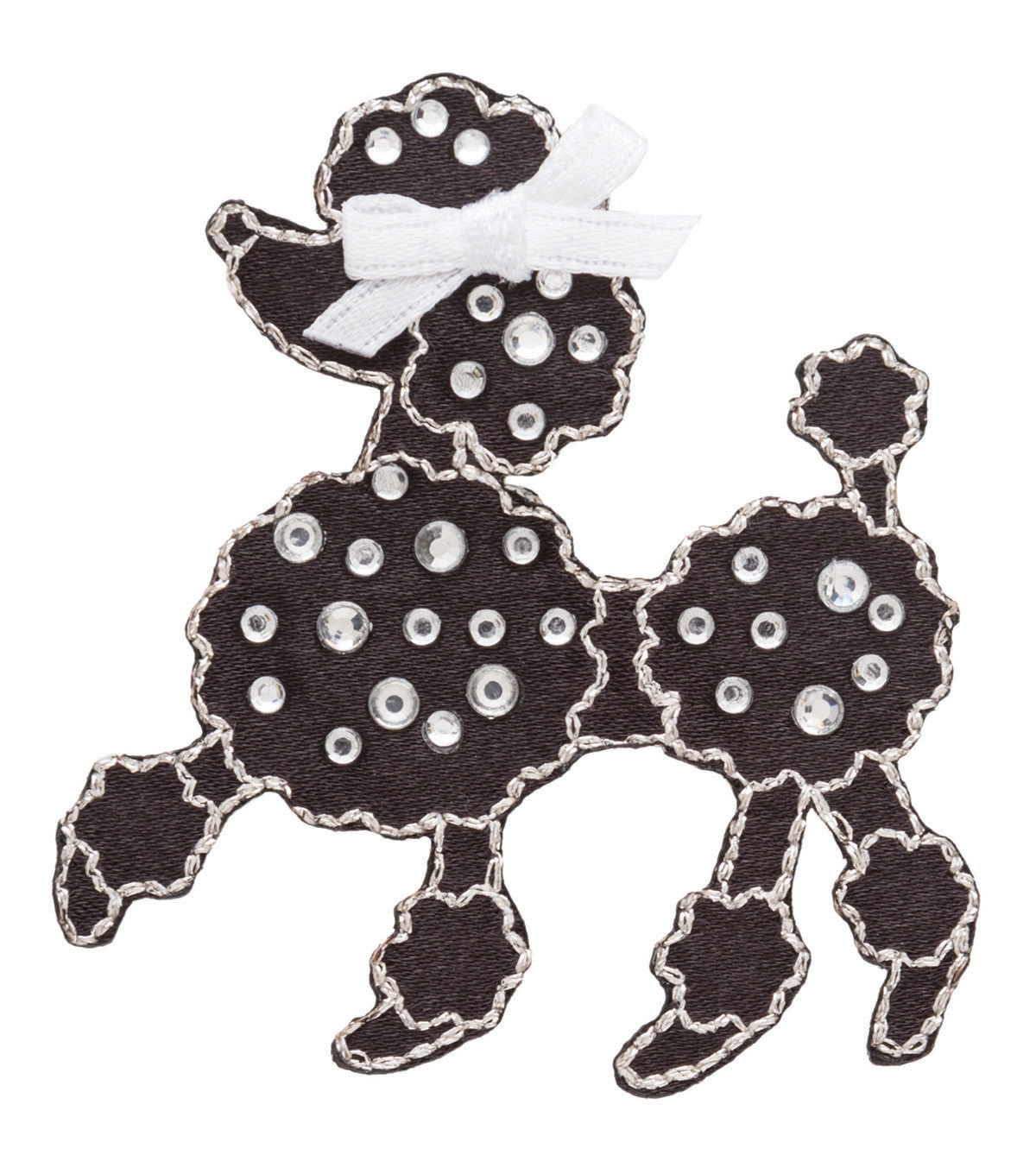 Simplicity® Iron-On Applique-Jeweled Black Poodle W/Rhinestones