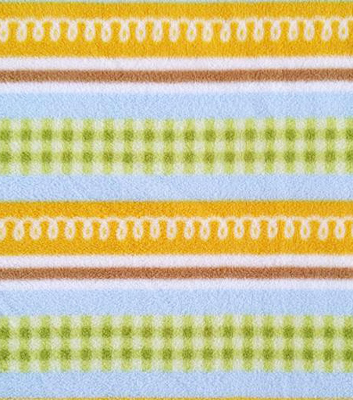 "Micro Fleece Fabric 59""-Baby Stripes"